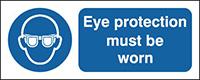 Eye protection must be worn  297x210mm 1.2mm Rigid Plastic Safety Sign