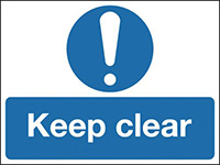 450x600mm Keep Clear stanchion sign