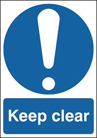Keep Clear 210x148mm 1.2mm Rigid Plastic Safety Sign