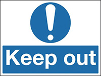 Keep out  300x250mm Reflective Safety Sign