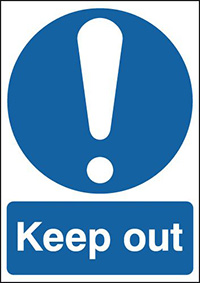 Keep Out  210x148mm 1.2mm Rigid Plastic Safety Sign