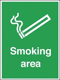 Smoking Area   400x300mm 0.9mm Aluminium Safety Sign