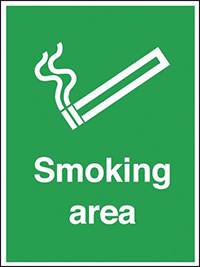 Smoking Area  400x300mm 3mm Aluminium Safety Sign
