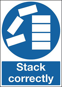 Stack Correctly 210x148mm 1.2mm Rigid Plastic Safety Sign