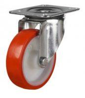 MD Top Plate Swivel Castor - 100mm - Polyurethane Tyre  Nylon Ctr