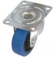MD Top Plate Swivel Castor - 125mm - Rubber Tyred  Nylon Ctr