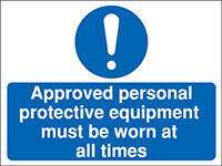 300x400mm Approved personal Construction Sign - Rigid