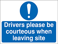 300x400mm Drivers please be courteous Construction Sign - Rigid