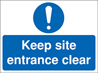 Thumbnail 450x600mm Keep site entrance clear Construction Sign - Rigid