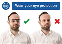 Thumbnail 297 X 420mm Wear your eye protection - Rigid