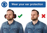 Thumbnail 210 x 297mm Wear your ear protection - Rigid