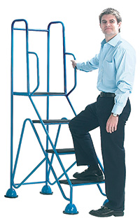 Fort Easy Glide Steps - 4 Tread with Full Handrail
