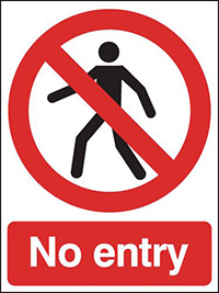 No Entry  400x300mm 2mm Polycarbonate Safety Sign