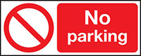 No Parking  210x148mm 1.2mm Rigid Plastic Safety Sign