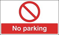 No Parking  300x500mm Reflective Safety Sign