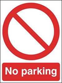 No parking  400x300mm  3mm Aluminium Safety Sign