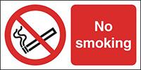 No Smoking  150x300mm 1.2mm Rigid Plastic Safety Sign