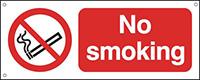 No Smoking  100x250mm 0.9mm Aluminium Safety Sign
