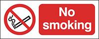 No smoking Reflective sign 100x250mm Reflective Safety Sign