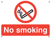 No Smoking  450x600mm 0.9mm Aluminium Safety Sign