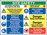Thumbnail 600x800mm Site safety all visitors and drivers must report to - Rigid