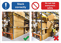420 x 594mm Stack correctly / Do not risk everyone s safety - Rigid