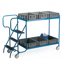 Order Picking Trolley - For 4 Containers