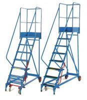 Fort Heavy Duty  Elite  Mobile Steps - Wide 17 Step - Aluminium Treads