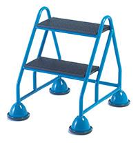 Fort Premier Range of Mobile Domed Feet Steps - 2 Tread