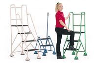 Fort Premier Range of Mobile Domed Feet Steps - 5 Tread