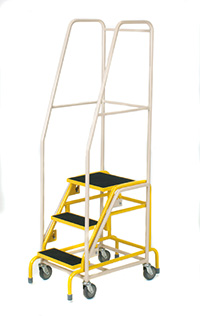 Fort  Duplex  Weight Reactive Mobile Steps -  3 Step - Yellow Inner Frame - Phenolic Treads