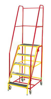 Fort  Duplex  Weight Reactive Mobile Steps -  6 Step - Yellow Inner Frame - Phenolic Treads