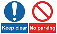 Keep Clear No Parking  300x500mm 1.2mm Rigid Plastic Safety Sign
