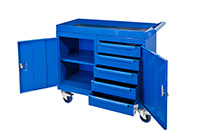 Mobile Tool Cabinet with 3mm fluted rubber overlay Workbenches - 150kg UDL