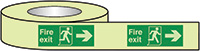 Fire Exit Running Man Arrow Right Photoluminescent Tape 40mmx10m  Safety Sign