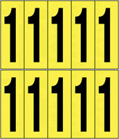 22x38mm Vinyl Cloth Numbers Card 1