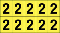 22x38mm Vinyl Cloth Numbers Card 2