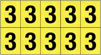 22x38mm Vinyl Cloth Numbers Card 3