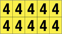 22x38mm Vinyl Cloth Numbers Card 4