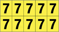 22x38mm Vinyl Cloth Numbers Card 7