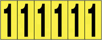 89x39mm Vinyl Cloth Numbers Card 1