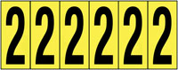 89x39mm Vinyl Cloth Numbers Card 2