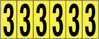 89x39mm Vinyl Cloth Numbers Card 3