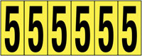 89x39mm Vinyl Cloth Numbers Card 5