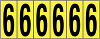 89x39mm Vinyl Cloth Numbers Card 6