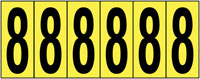 89x39mm Vinyl Cloth Numbers Card 8