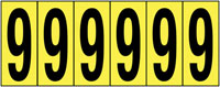 89x39mm Vinyl Cloth Numbers Card 9