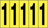 127x44mm Vinyl Cloth Numbers Card 1