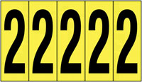 127x44mm Vinyl Cloth Numbers Card 2