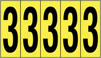 127x44mm Vinyl Cloth Numbers Card 3